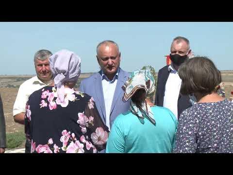 Глава государства посетил село Оксентя Дубоссарского района