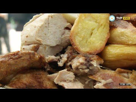Pollo al horno de barro en Navarro