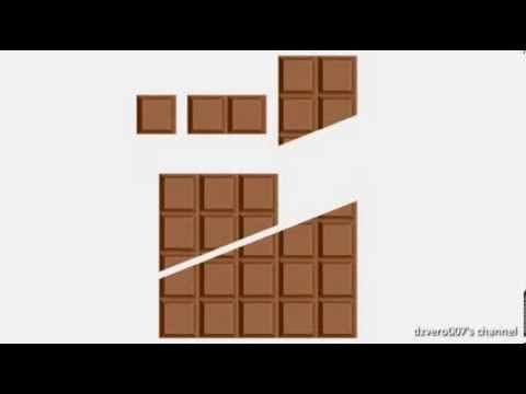 VIDEO: Jak šikovně získat více čokolády? Pomocí geometrie