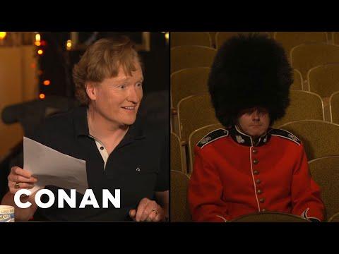 Conan Tries To Make A Buckingham Palace Guard Laugh - CONAN on TBS