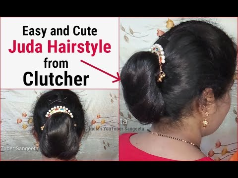 Very Easy And Simple Juda Hairstyle From Clutcher Hair Style Girl