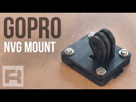 Supporto Gopro Per Elmetto - Made in Italy - NVG 3D Printed