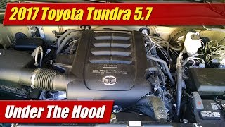 Full overview of the 3UR-FE 5.7-liter V8 engine of the Toyota Tundra with major technical features, specifications and maintenance service points.Photo gallery and text: http://testdriven.tv/2017/06/under-the-hood-2017-toyota-tundra-5-7Auto news with a reality check! New car, truck, SUV and crossover test drives, reviews and news posted daily!Subscribe: http://www.youtube.com/TestDrivenTVWebsite: http://www.TestDriven.TVFacebook: http://www.facebook.com/TestdriventvTwitter: http://www.twitter.com/testdriventvGoogle: http://www.google.com/+TestDrivenTV
