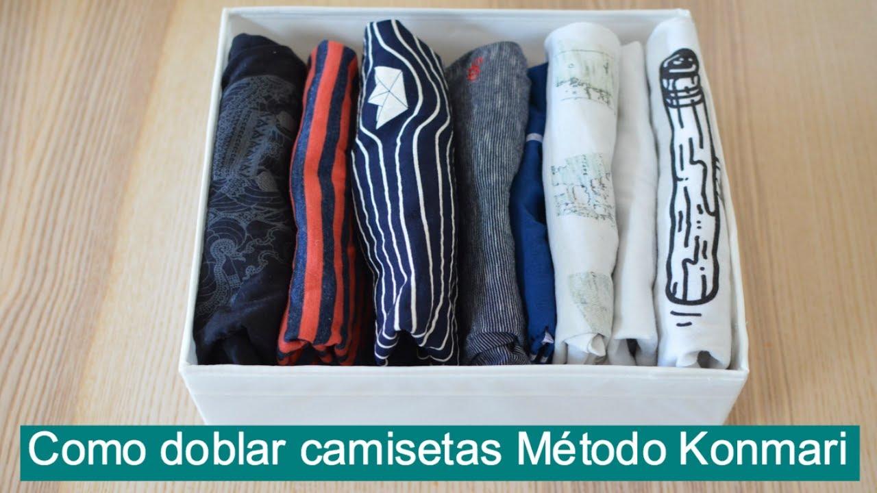 C mo doblar camisetas para ahorrar espacio con el m todo - Marie kondo doblar ropa ...
