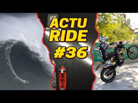 ACTU RIDE 36 : Justine Dupont de retour à Nazaré, Nyjah en mode BikeLife, snowboard, skate & BMX !