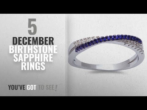 10 Best December Birthstone Sapphire Rings: Simulated Blue Sapphire & Cubic Zirconia Infinity .925