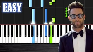 Maroon 5 - Sugar - EASY Piano Tutorial by PlutaX - Synthesia