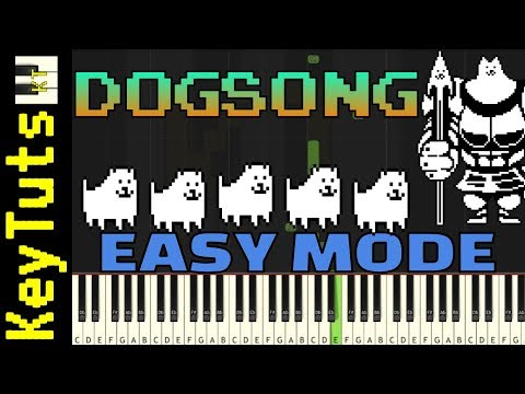 Learn To Play Dogsong From Undertale - Easy Mode