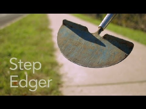 How to Use a Step Edger : Garden Tool Guides (видео)