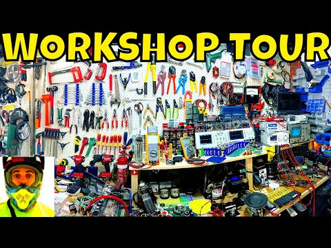 Final Workshop Tour before moving house - Tools and a few projects