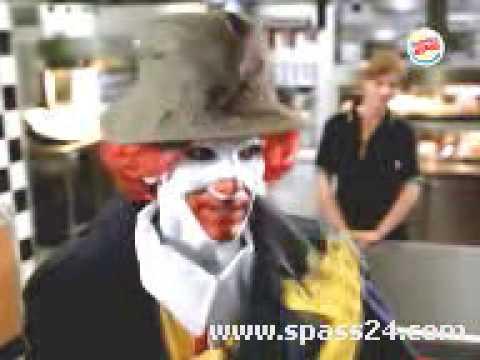 die verbotene Burger-King Werbung (Ronald McDonald)