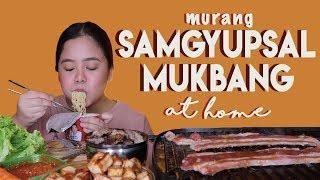 Samgyupsal (Korean BBQ Mukbang) sa Bahay! MURA LANG! | Merienda Time