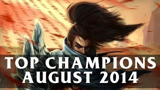 Top Played League Champions (August 2014) | League of Legends