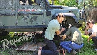 Video Repairing a Defender in Kyrgyzstan  (Ep76 GrizzlyNbear Overland) MP3, 3GP, MP4, WEBM, AVI, FLV Juli 2019