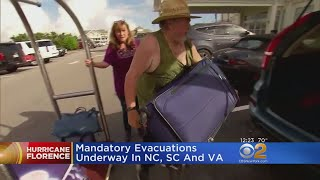 Evacuations Ordered As Hurricane Florence Heads For East Coast