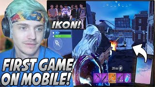 Ninja & iKON Played MOBILE Fortnite For The FIRST Time In The New DETONATION Game Mode!