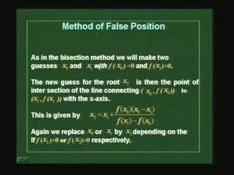 Lösung nichtlinearer Gleichungen