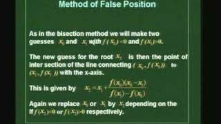Lecture 21 - Solving NonLinear Equations