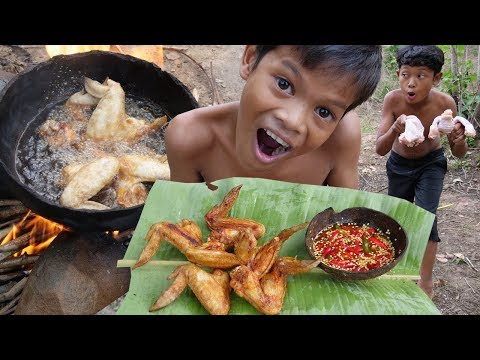 Cooking Chicken Wing Recipe In Forest And Eating