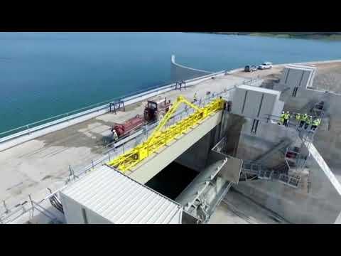Hidrocentrali i Banjes HD (momemti i shkarkimit te ujit)