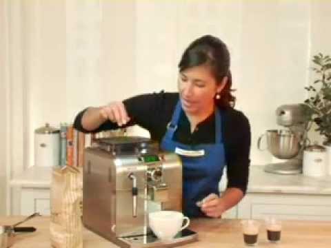 Saeco Syntia Espresso Machine.flv