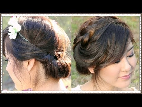2 Cute Spring Updo Hairstyles!