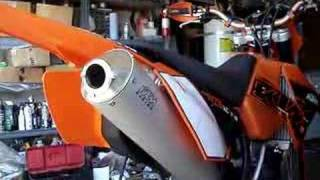 8. Stock muffler on KTM 250 XCF-W / EXC-F exhaust comparison