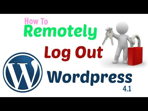 how to logout of wordpress