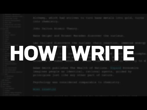 How I Write (Scrivener and DEVONthink Workflow)