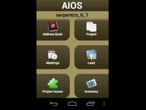 Video of AIOS - OpenERP