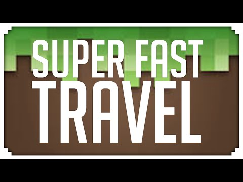 Minecraft: SUPER FAST TRAVEL IN 1.9!