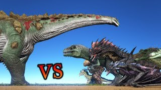 Titanosaur vs ALL OTHER CREATURES in ARK (UPDATED VERSION) || ARK: Survival Evolved || Cantex