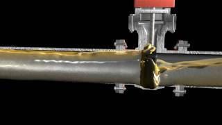 Oil & Fuel pipeline valve shutting and bladder surge suppression tank
