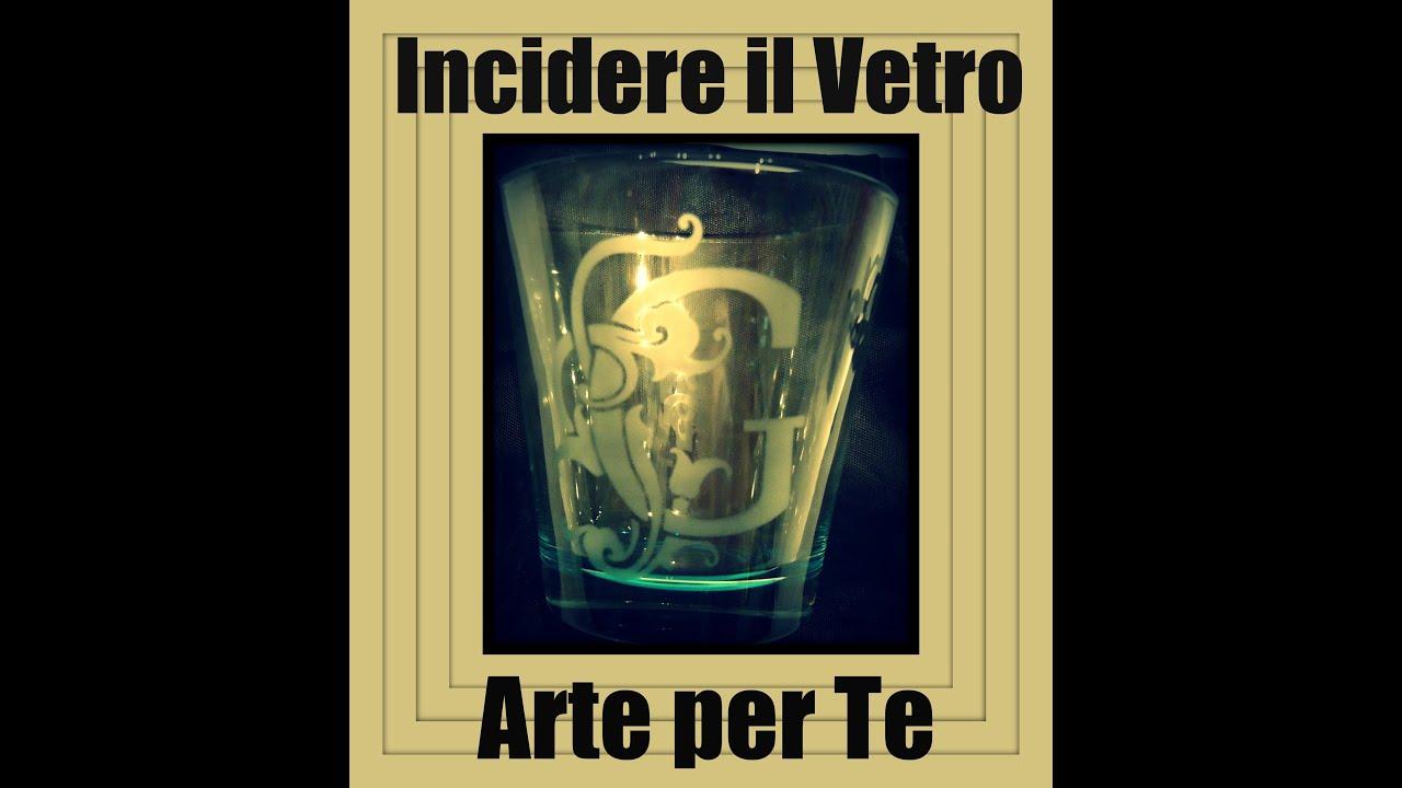 Come incidere il Vetro ♥ Decorazione Bicchieri Fai da Te ♥ VIDEOTUTORIAL