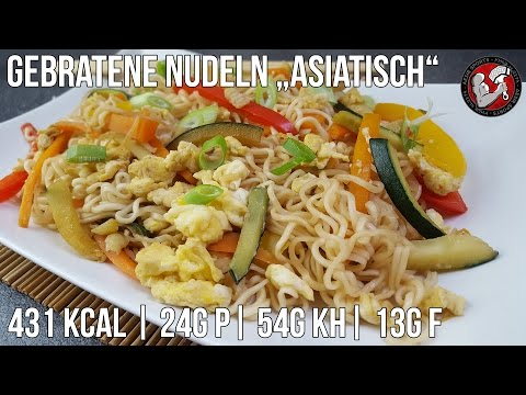 Gebratene Nudeln mit Ei – Asia Style| Protein Nudel Rezept