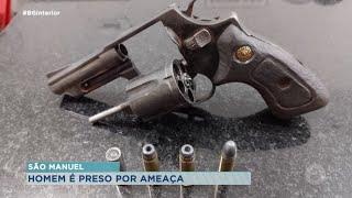 São Manuel: homem é preso após ameaçar funcionários de uma usina