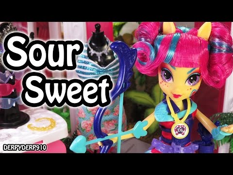 MLP Equestria Girls: Friendship Games Sour Sweet Mall Mayhem My Little Pony MLPEG Toy Doll Review (видео)