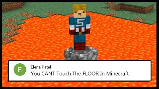 Minecraft, But I CANT Touch The FLOOR.. | Minecraft Top Comment #8
