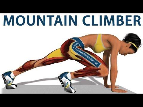 Cardio exercises: Mountain Climber (видео)