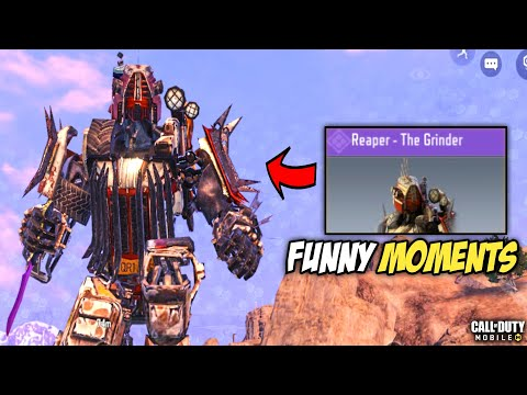 CALL OF DUTY MOBILE - REAPER THE GRINDER GAMEPLAY IN BATTLEROYALE MODE [FUNNY MOMENTS]