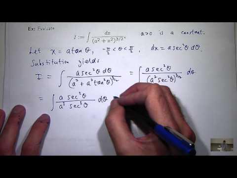 Integration durch trig Substitution und Partialbruchzerlegung
