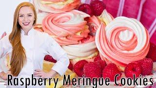 Raspberry Swirl Meringue Cookies by Tatyana's Everyday Food