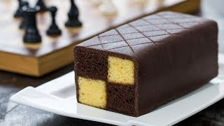 Chocolate Almond Battenberg Cake - 4k video by Home Cooking Adventure