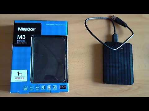 Disco duro externo Maxtor M3 1TB USB 3.0