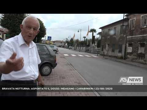 BRAVATA NOTTURNA: ASPORTATO IL DOSSO. INDAGANO I CARABINIERI | 23/09/2020