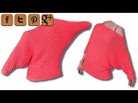 Valentine Pullover Linkshänder Häkelanleitung – © Woolpedia