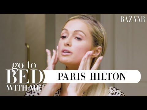 Paris Hilton's Nighttime Skincare Routine | Go To Bed With Me | Harper's BAZAAR