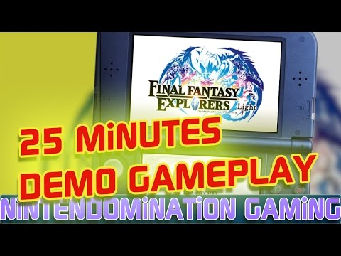 3DS – Final Fantasy Explorers light – 25 Minutes DEMO Gameplay