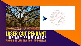 Line Art in Illustrator from image for Laser Cutting