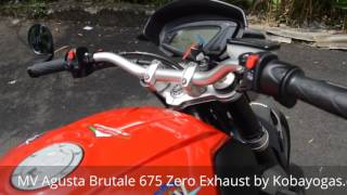9. MV Agusta Brutale 675 Zero Exhaust review by Kobayogas.com